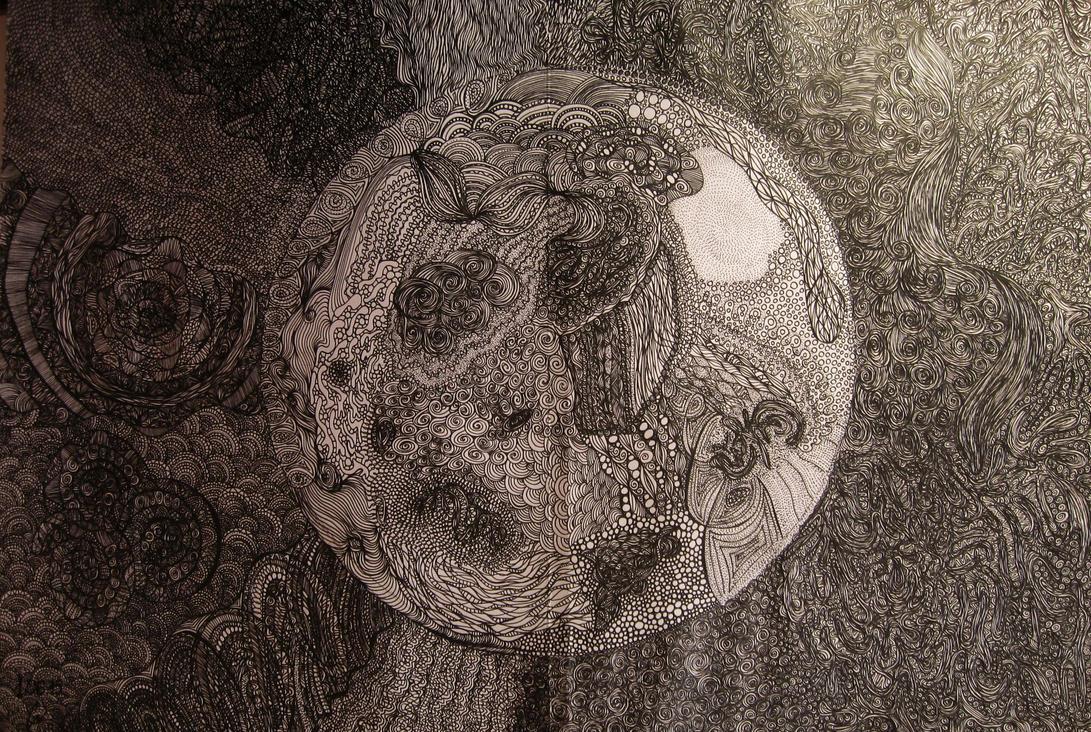 Full moon by MostWeasel