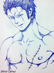 Roronoa Zoro : One Piece (Pen and pencil).