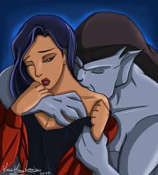 Elisa and Goliath hug kiss by MariadoPijama