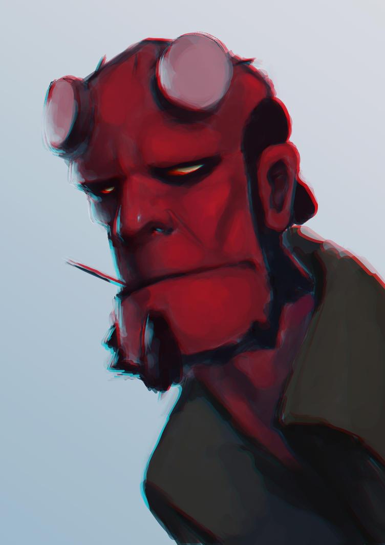 Hellboy by AsFooR