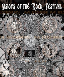 art created for the  visions of the rock festival