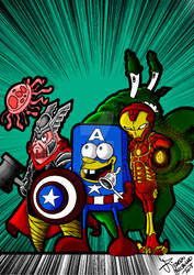 Sponge Bob and friends  + avengers = :) :):):):):)