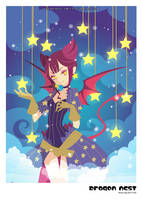 Dragon Nest-Sorceress + Stars by ZiyoLing