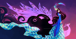 Colorful Wings: Peacock