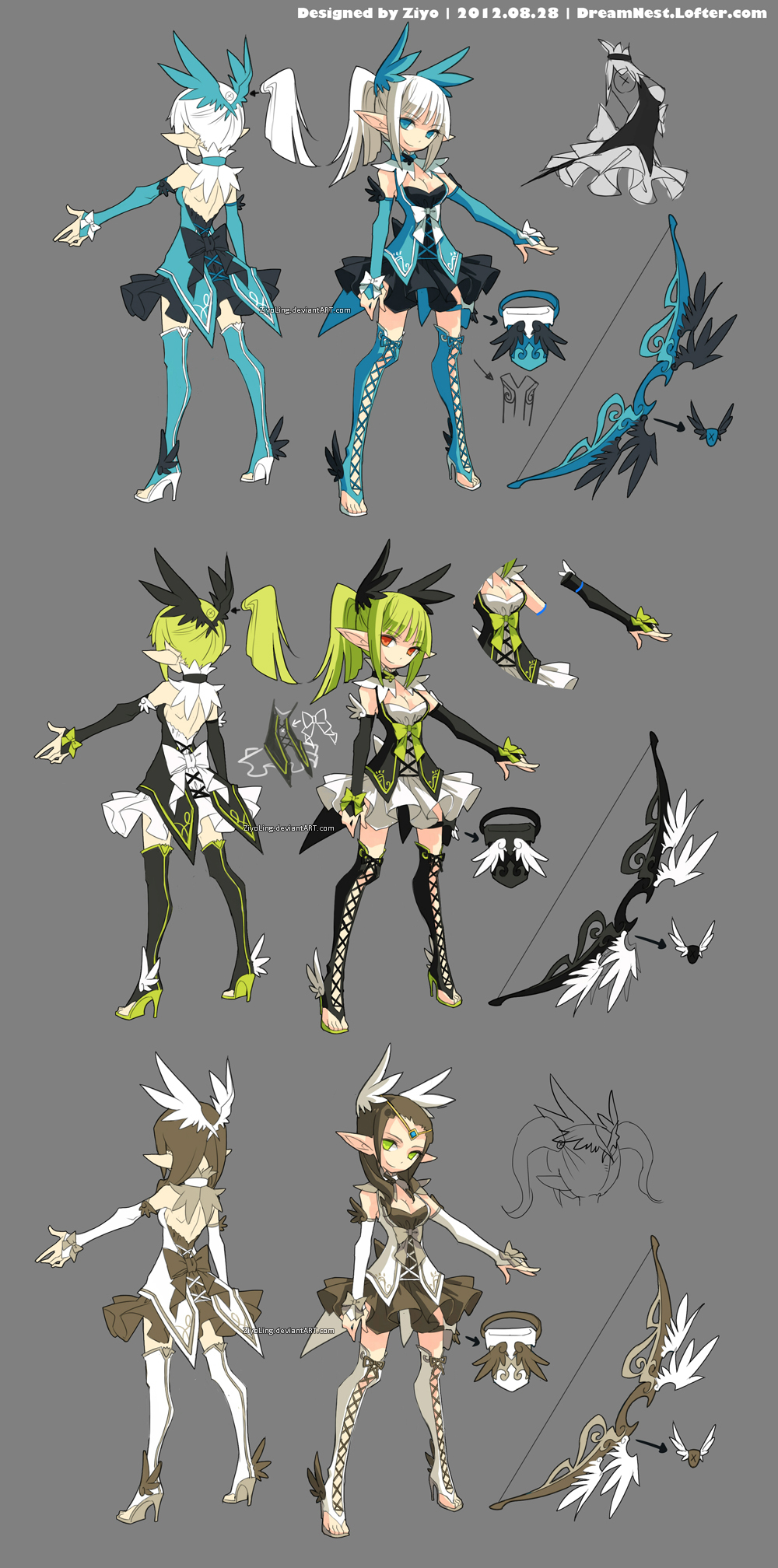 DragonNest Costume design-Archer by ZiyoLing