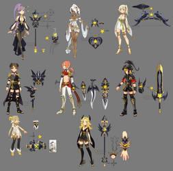 Dragon nest myth weapons by ZiyoLing