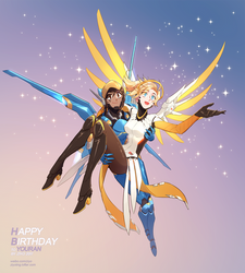 Pharmercy-starry sky by ZiyoLing