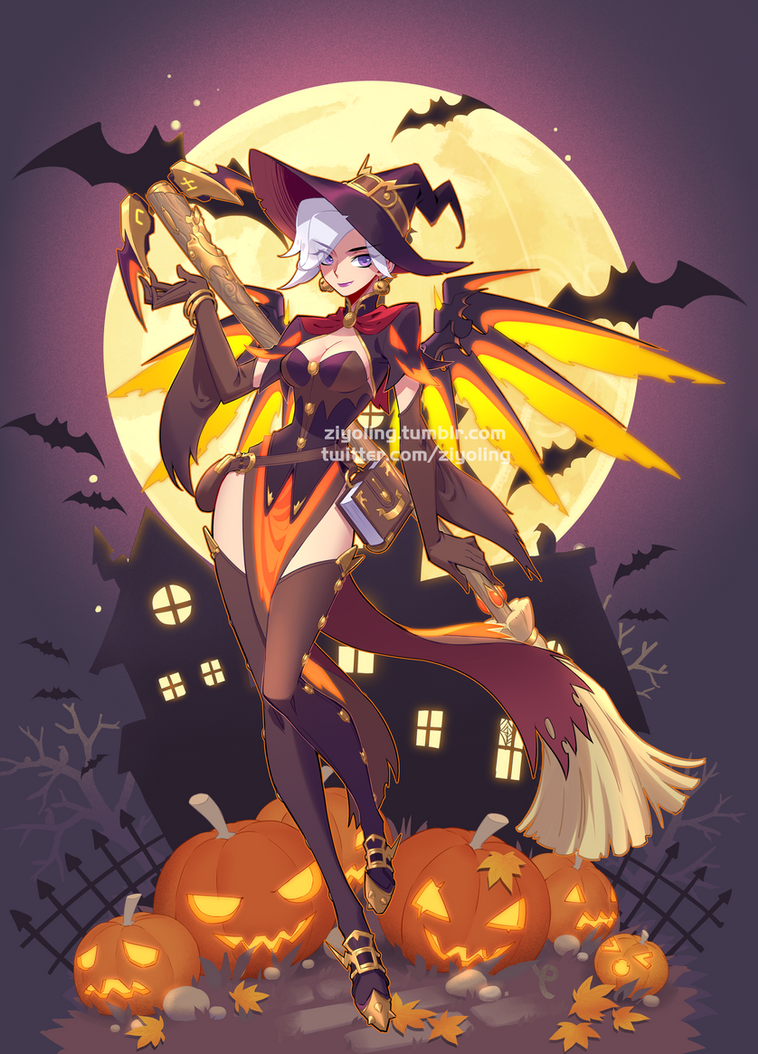 [Overwatch] Halloween mercy by ZiyoLing