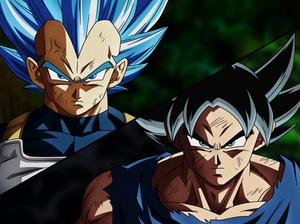 Vegeta SSGSS Evolucion Y Goku Migatte No Gokui