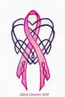 Celtic heart and pink ribbon by shanticameron on deviantart for Celtic breast cancer tattoos