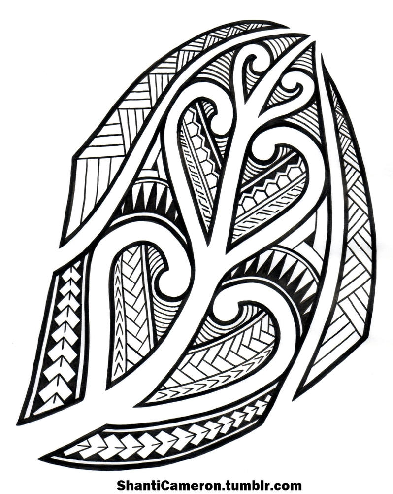 Line Drawing Of New Zealand : Maori inspired tribal by shanticameron on deviantart