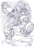 Proto Man, Mega Man by Omegachaino