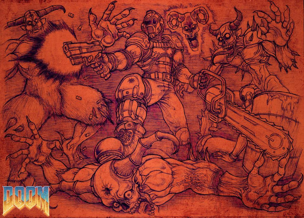 Más fanarts de Doom Doom_by_omegachaino-d85kfef