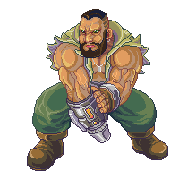 Barret Wallace, Final Fantasy 7 by Omegachaino