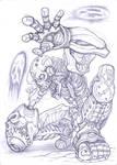 Skull Man redesign, Mega Man 4