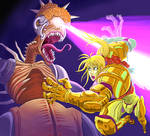 Super Metroid, Samus and Mother Brain.
