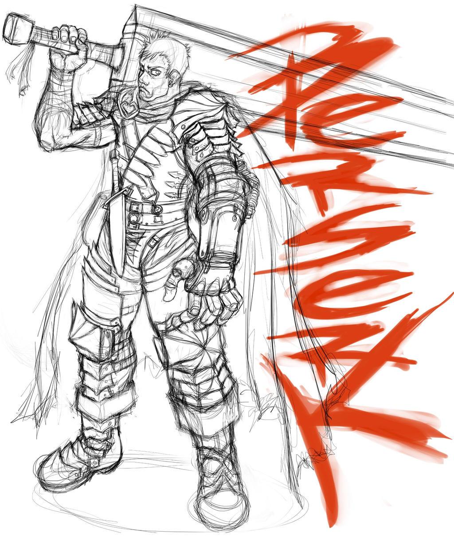 Berserk, Guts Sketch. By Omegachaino On DeviantArt