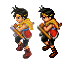 Suikoden 2,Riou,Pixel Upgrade. by Omegachaino