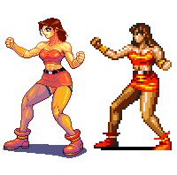 Street of Rage 2,Blaze, Pixel upgrade. by Omegachaino