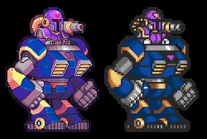 Vile, Mega Man X, Pixel Upgrade by Omegachaino