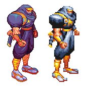 Ginzu the ninja, Captain Commando, Pixel upgrade. by Omegachaino
