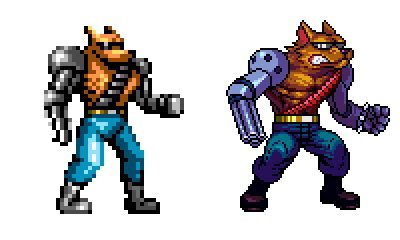 Contra hard corps , Fang , pixel upgrade. by Omegachaino