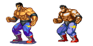 Street of Rage 2,Max, Pixel upgrade.