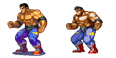 Street of Rage 2,Max, Pixel upgrade. by Omegachaino