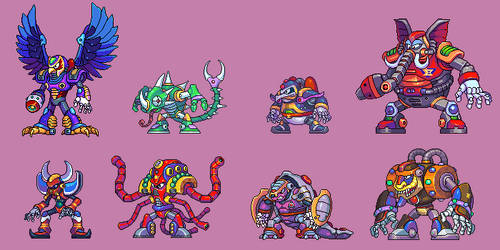 MegaManX, all bosses by Omegachaino