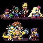 Super mario RPG characters