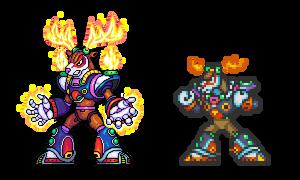 Mega Man X 2, Flame Stag ver02