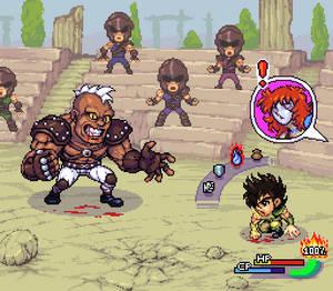 Seiya vs Cassius, RPG mockup