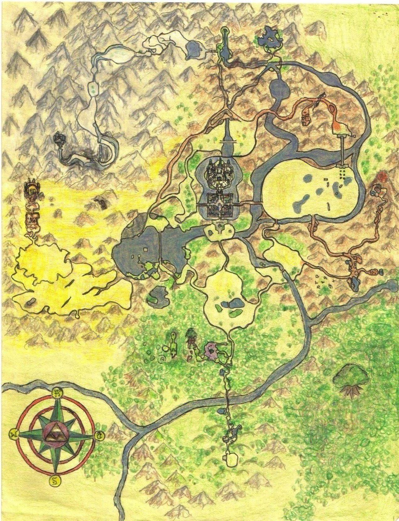 crude map in kakariko village twilight princess hd truezelda
