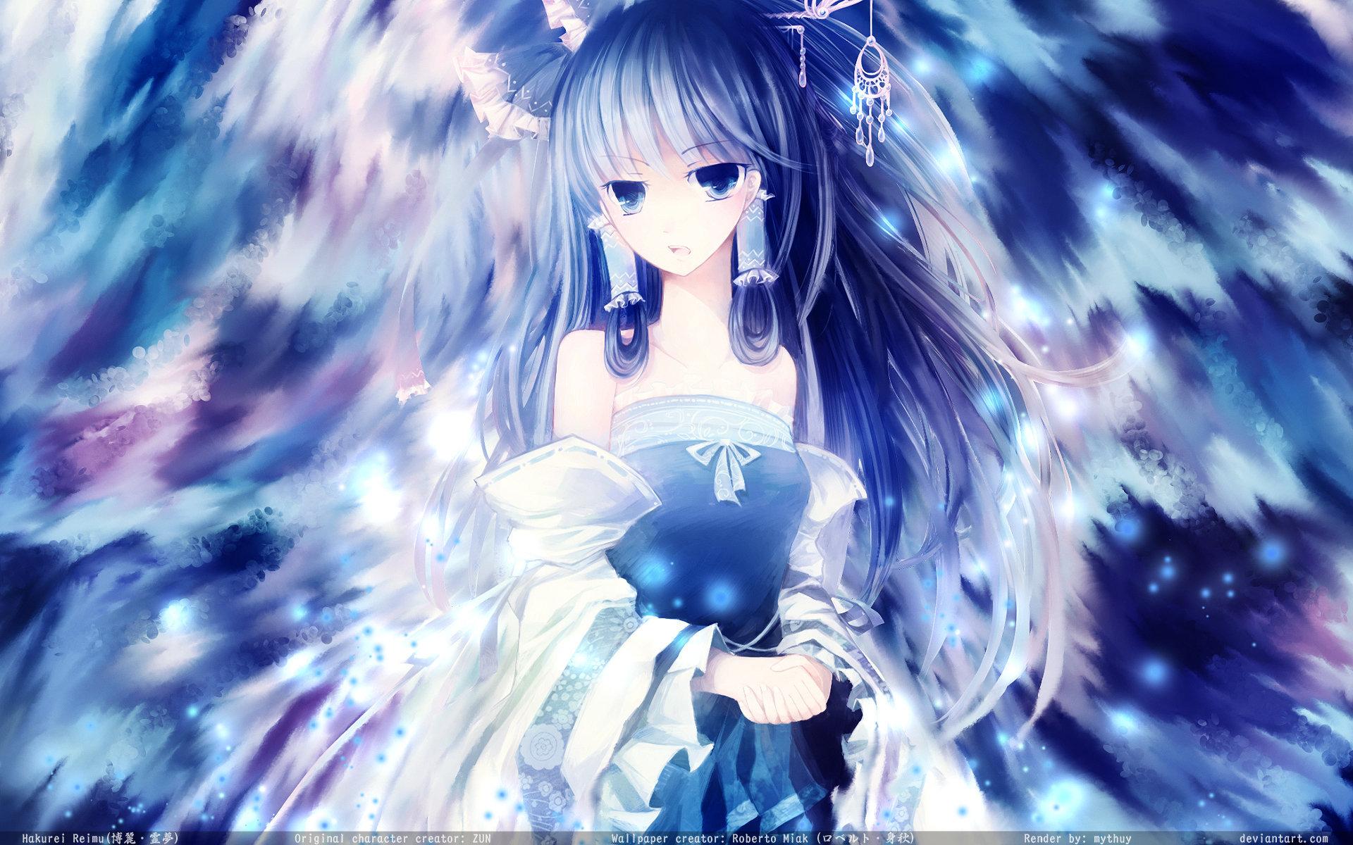 Reimu Hakurei - The Blue Maiden by Roberto-Miak