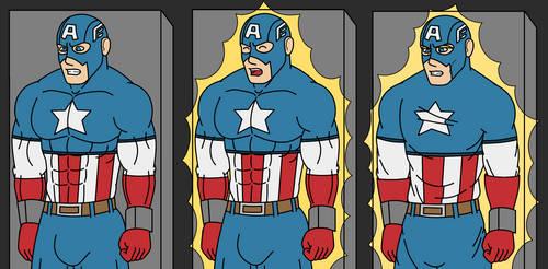Commission: Captain America draining