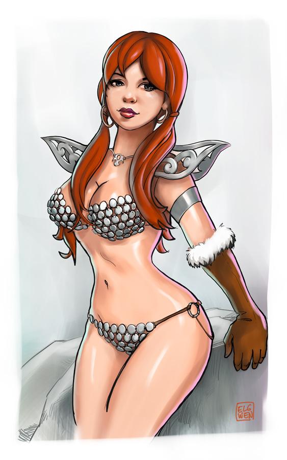 Red Sonja by elgwen