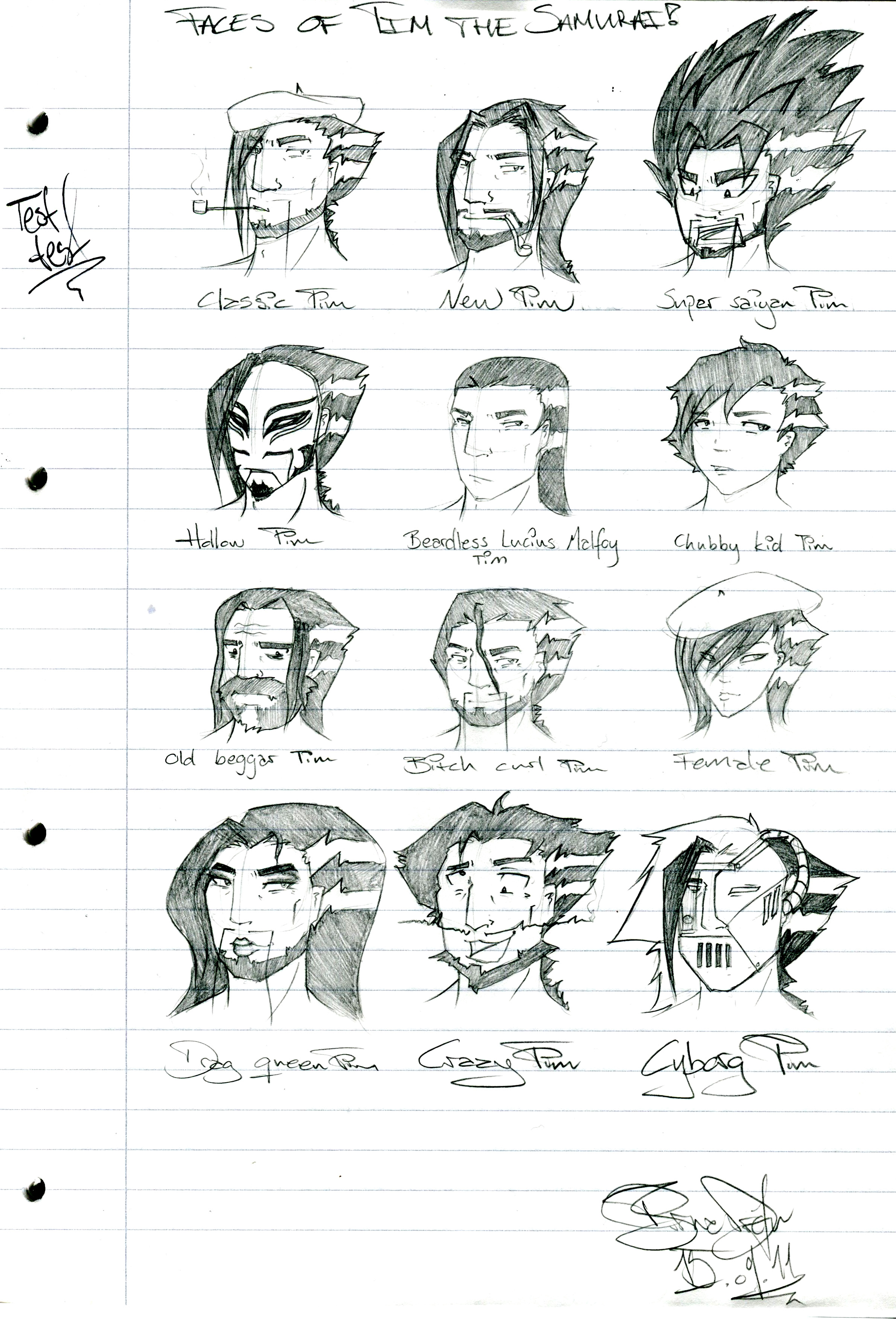 Many faces of Tim the Samurai by zimpo