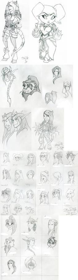 World of Warcraft sketch dump