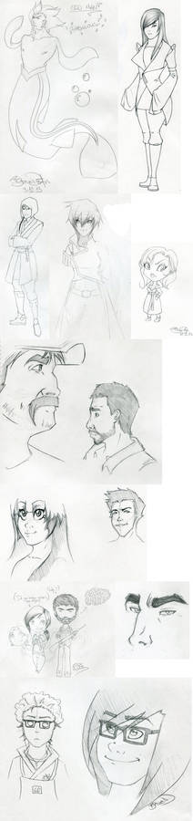 Sketch dump - contains Last of Us spoilers!