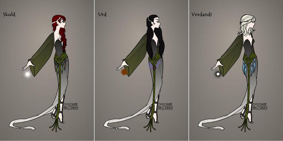 Norse Godesses VI : The Norns by WierdoSannaN on DeviantArt