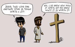 Cartoon 16 - Love Ain't Easy by eJcalado