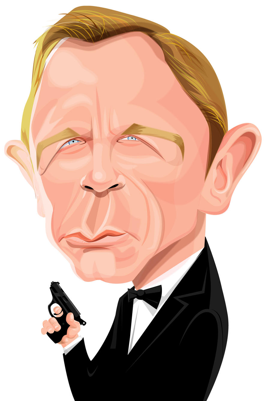 Revised Daniel Craig as Bond by kgreene
