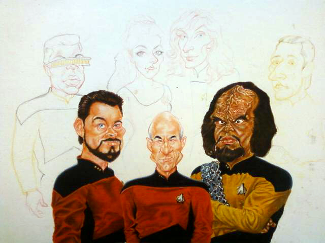 OLD Star Trek TNG drawing by kgreene