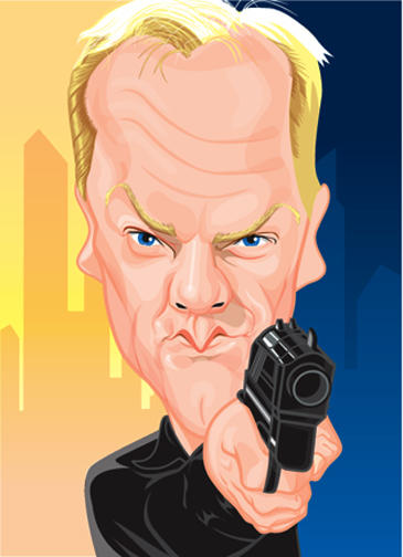 Keifer as Jack Bauer by kgreene