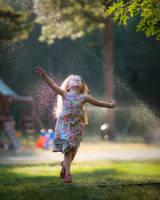 The Joy of Sprinklers in the Sun