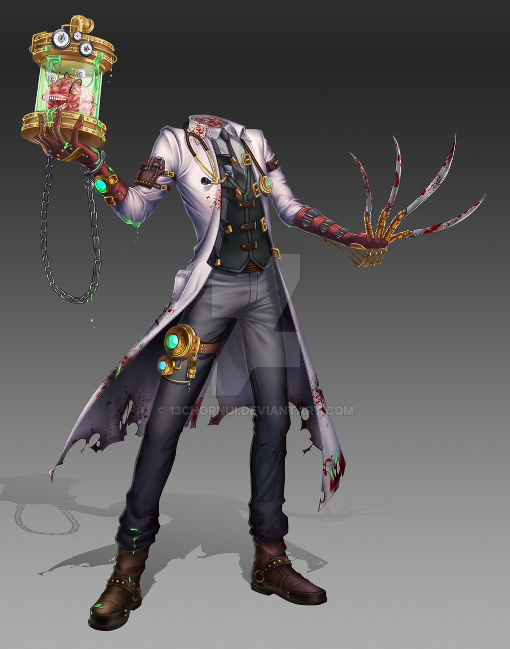 Sci Fi Doctor : Steampunk mad doctor by chornui on deviantart