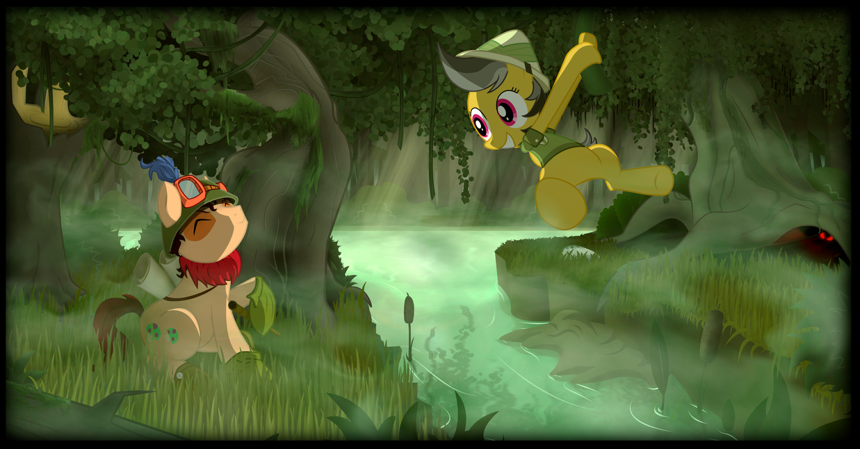 daring_doo_and_teemo_s_adventures_by_vul