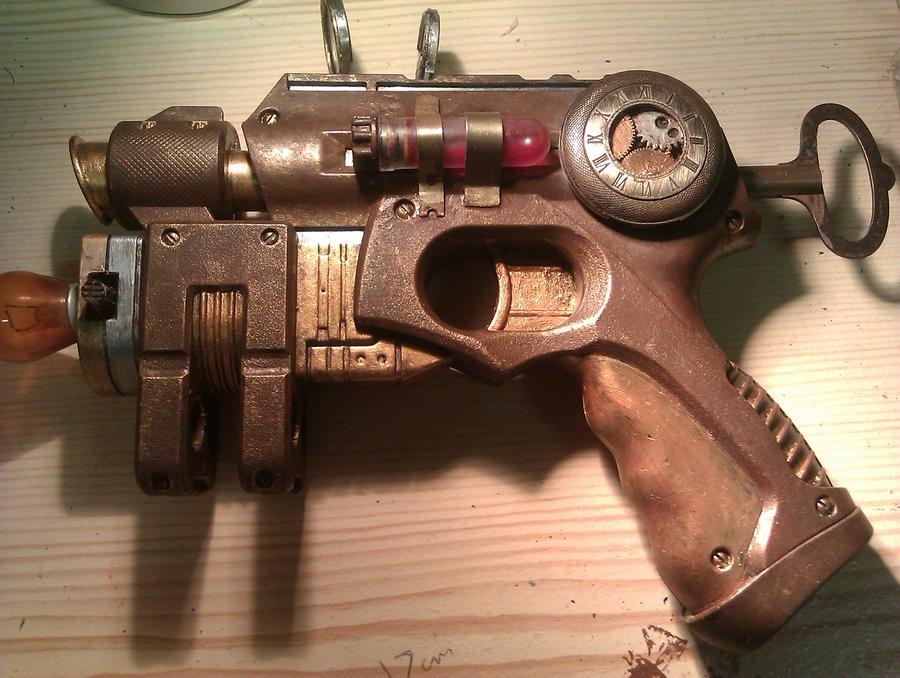 Steampunk Gun (Final/Finished Design) by Mryddraal