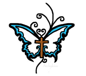 popular tattoo design cross tattoo and butterfly tattoo design by archykins this design good. Black Bedroom Furniture Sets. Home Design Ideas