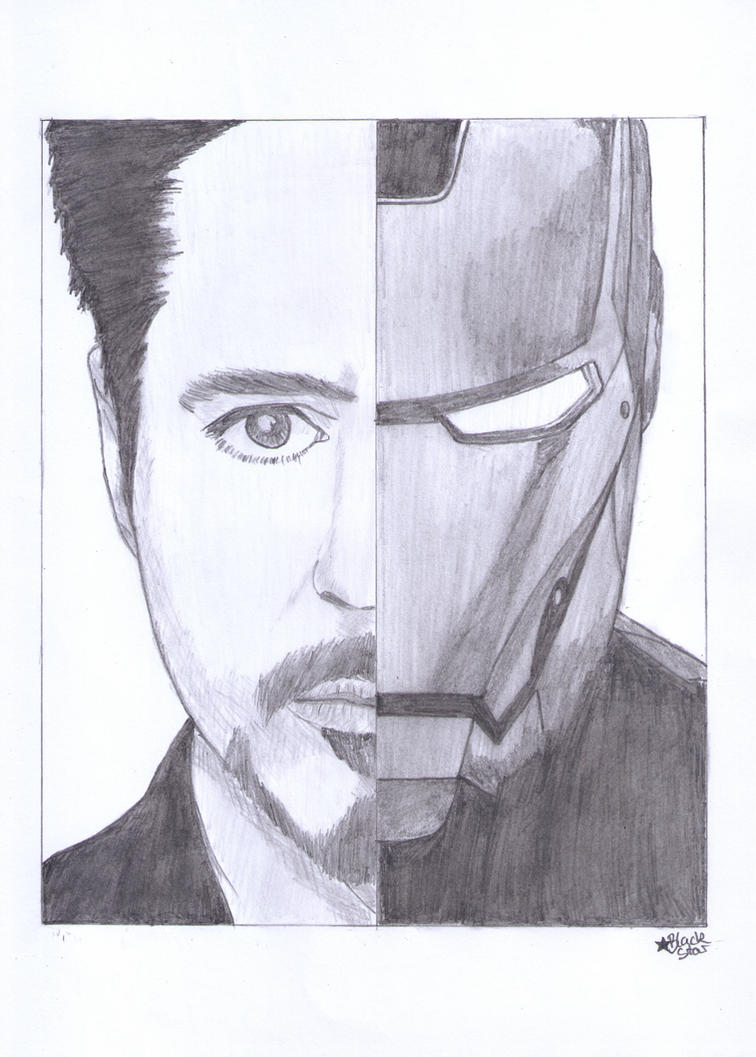 Robert Downey Jr./Iron Man by BlackStarLGArt
